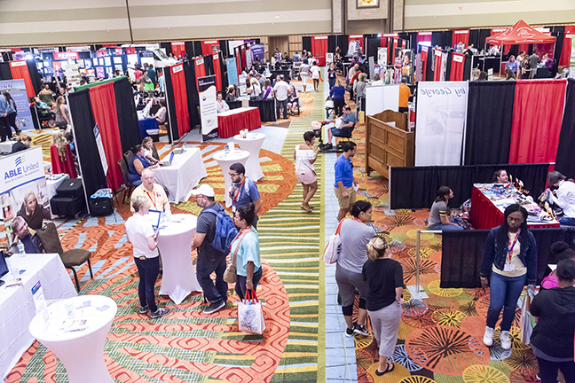 The Exhibit Hall at The Annual Family Cafe